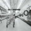 Black and white clean housework launderette 4414